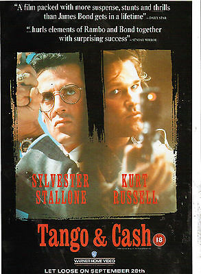 Tango & Cash  Film Advert  Sylvester Stallone  Magazine Clipping  Not A Copy