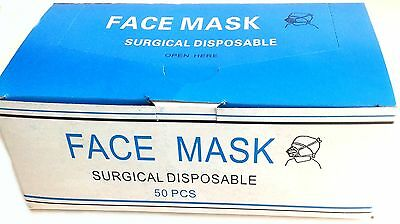 Disposable Surgical Face Masks with ear loop, 2000 masks, 2 cents each