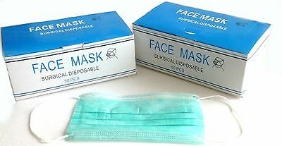 Disposable Surgical Face Masks with ear loop, 100 masks, 2 boxes of 50