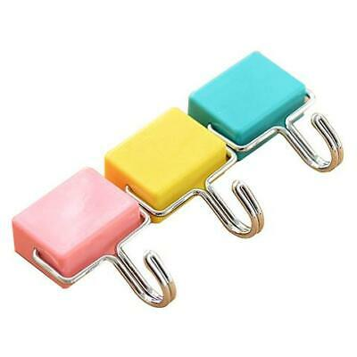 All-Purpose Magnetic Hooks, Pastel Pink, Yellow, Blue, 3-Pack