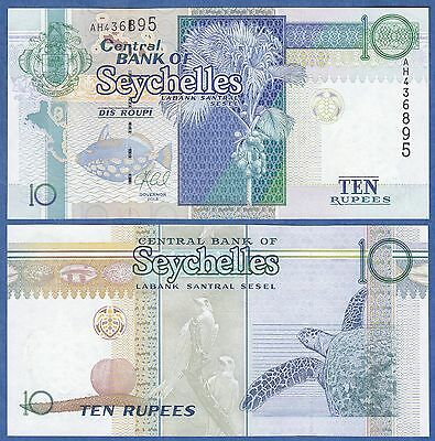 Seychelles 10 Rupees P 36 New 2013 UNC Low Shipping! Combine FREE!