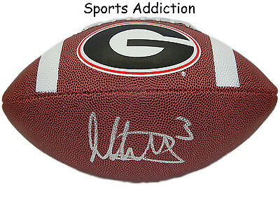 Todd Gurley Georgia Bulldogs Autographed Signed Logo Football w/ signing photo