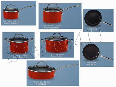 Circulon Genesis Aluminum Collection 12-Piece Cookware Set, Red Brand New