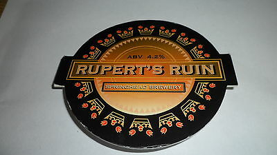 Springhead Brewery Ruperts Ruin Beer Pump Clip with Clip 58
