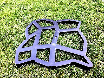Driveway Walkway Maker Stepping Stone Path Marker Mold Cement Form Concrete Tool