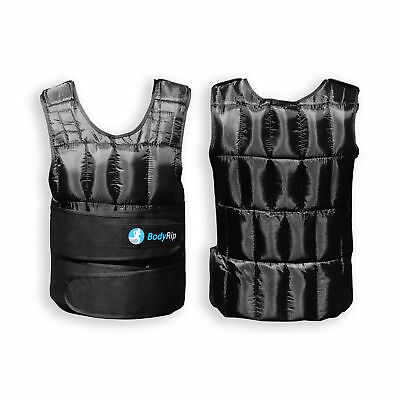BodyRip 10kg Weighted Vest Neoprene Lining Extra Padding Removable Weights