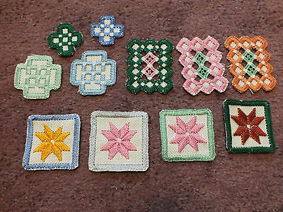 Collectible Norwegian Hardangar Embroidery Needlepoint Set 11 Ornaments Accents