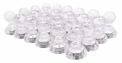Small Strong Clear Magnetic Push Pins, Neodymium Magnets (Translucent) (24 Pack)