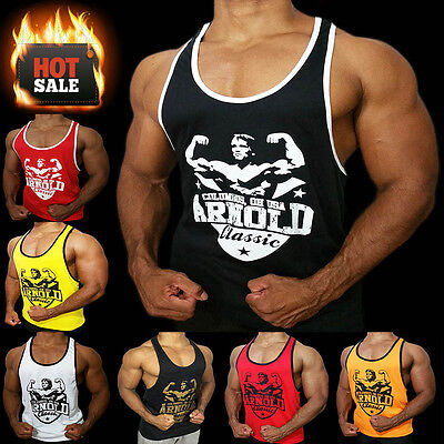 Arnold workout singlet tank top bodybuilding Muscle shirts stringer gym vest