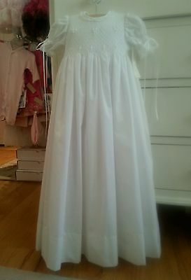 Day Dream Heirlooms Girl's Cotton Christening Gown 3-6 months MSRP $175 Now $99!