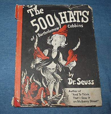 Vintage The 500 Hats Of Bartholomew Cubbins Dr Seuss First Edition 1938