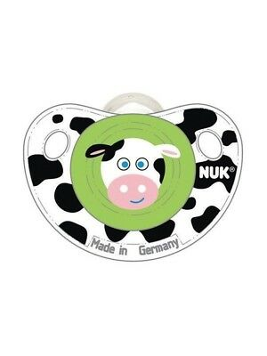 NUK 2 Pack Clear-Shield Silicone Button Pacifier 0-6 Month Farm Animals  62825