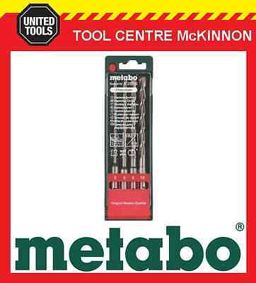 METABO 4pce SDS PLUS MASONARY DRILL SET IN CASE – 5, 6, 8 & 10mm