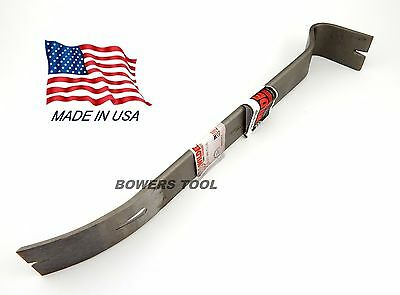 Wilde Tool 14 in Double End Flat Curved Pry Bar Nail Puller USA MADE Demolition