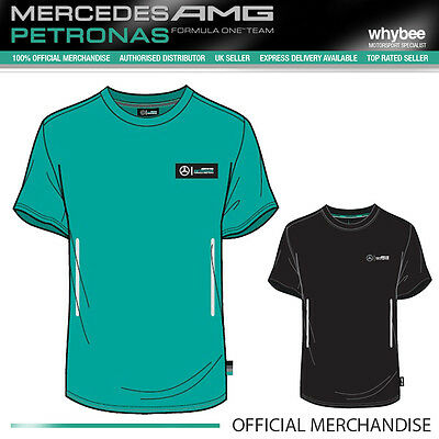 2015 Mercedes-AMG Formula One F1 Team Mens Pit T-Shirt Black/Green/Grey