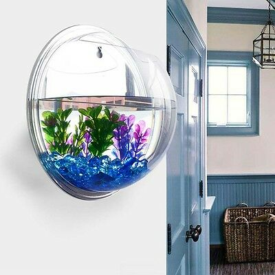 Décoration plante pendante poisson Bubble Bowl Aquarium Aquarium Réservoir ED • EUR 7,12