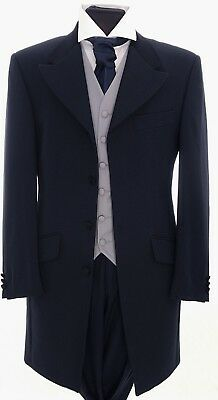 Mens Boys Prince Edward Jacket Navy Blue Wedding Prom Stage Drama Formal Wear