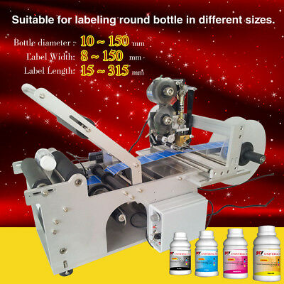 free shipping,round bottle labeling labeler with date coder,different sizes