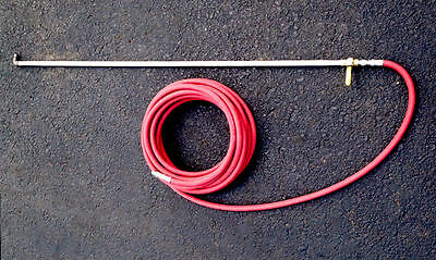 5' NAC Aluminum Spray Wand / 100' Hose Combo for Sealcoating—1/2""