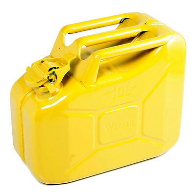 High Quality Metal Jerry Can for Petrol or Diesel Fuel Yellow 10L