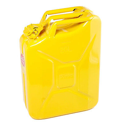 Explosion Safe Metal Jerry Can for Petrol or Diesel Fuel Yellow 20 Litre