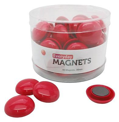 All-Purpose Red Refrigerator Magnets, 50 per container