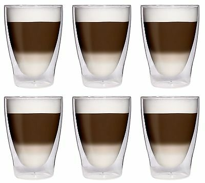 THERMO COCKTAIL LATTE MACCHIATO GLÄSER SET 1 - 24tlg. DOPPELWANDIG THERMO-GLAS