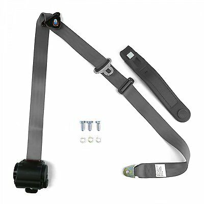 3 Point Gray/Grey Retractable Seat Belt with bolts