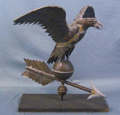Antique Copper Spread Winged Eagle Weathervane WOW!