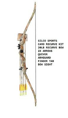 Archery Camo FAMILY / YOUTH Recurve Bow Set 20Lbs with 2 x Arrows & Accessories