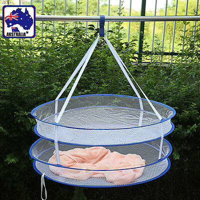 Foldable Double Layer Hanging Dry Rack Clothes Laundry Drying Carry HBASK 7722