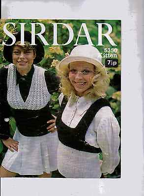 "Sirdar Kitten Ladies Tank Tops Knitting Patterns 32-38"" 5350 30"