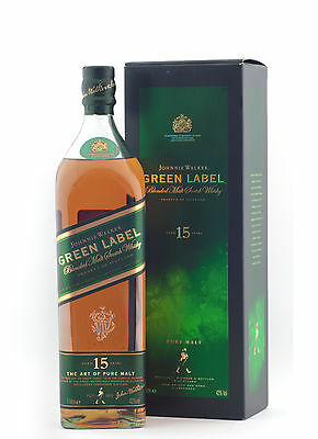 Johnnie Walker Green Label 15 Year Old Scotch Whisky 1000ml  LIMITED