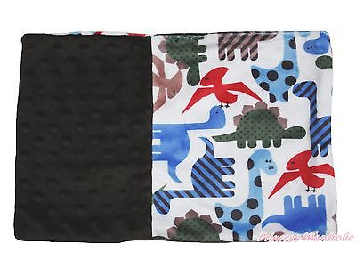 Baby Infant Newborn Dinosaur Brown Minky Dots Spotted Pillow Cover Pillowcase