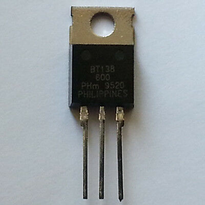 Philips Semiconductors BT138-600, Triac 600V, 12A, 35mA, TO220AB