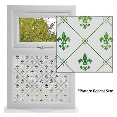 Etched Glass Effect Window Film, Victorian Styles, Window Pattern F-D-L DESIGN