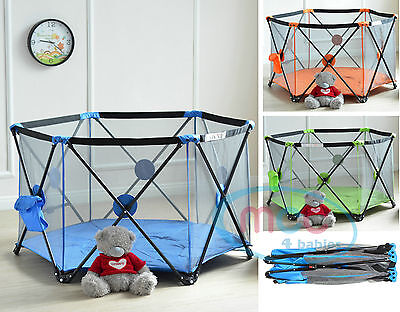 MCC Pop Up Playpen Portable Baby Play Yard with Fitted Playmat Indoor & Outdoor