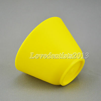 Dental Lab Plaster Flexible Alginate Mixing Bowl Flexible Rubber Mixing Yellow