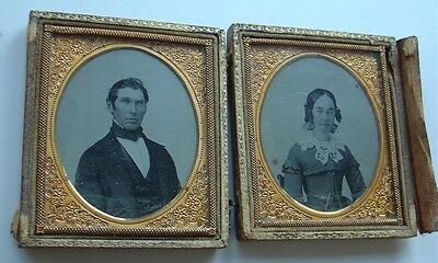 Antique Ambrotype Photo Husband & Wife in Case