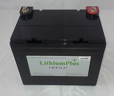 BATTERIE LITHIUM 12V 33Ah LIFEPO4 195x130x180 Exemple golf
