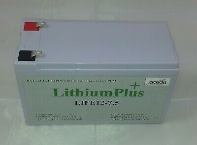 BATTERIE LITHIUM 12V 7,5Ah LIFEPO4 IFR 151x65x94mm cyclage