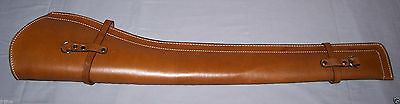 PLAIN BROWN LEATHER SMOOTH SCABBARD (Rifle Holster) Holster only