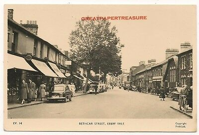 Ebbw Vale, Monmouthshire. Bethcar Street. Real Photo Postcard by Frith no EV14