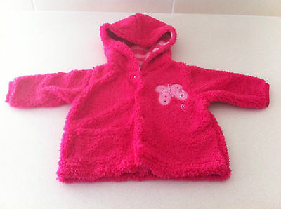 Baby Girls Fluffy Hooded Pink Jacket~~Bnwt~~Size 00