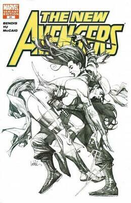 New Avengers #31 Variant Sketch Cover by Leinil Yu