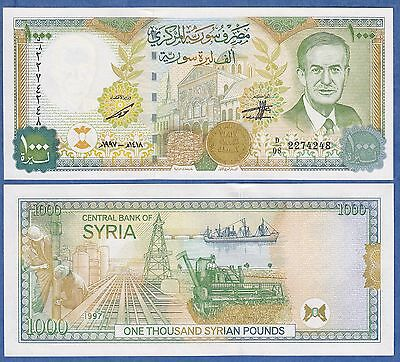 Syria 1000 Pounds P 111 New (2012) 1997 UNC Low Shipping! Combine FREE!
