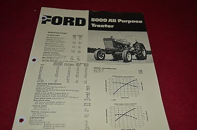 Ford 5000 Tractor Dealer's Brochure DCPA2