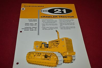 Allis Chalmers HD21 Crawler Tractor Dealer's Brochure DCPA2