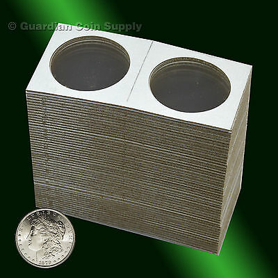 100 - Cowens 2x2 LARGE DOLLAR Mylar Cardboard Coin Holder Heavy Duty Flips