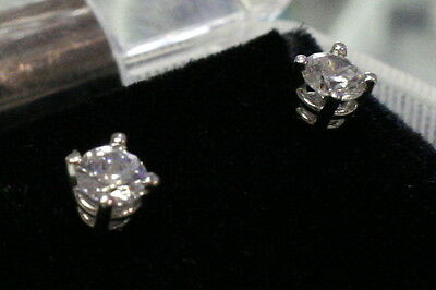 New 14K White Gold Earrings W/ 1.50TCW  Lab Lannyte Diamonds